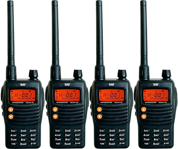 Team Electronic TeCom-X5 PMR-Funkgerät Koffer 4er-Set