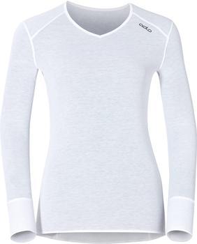 Odlo Shirt l/s V-Neck Warm Women (190881) white