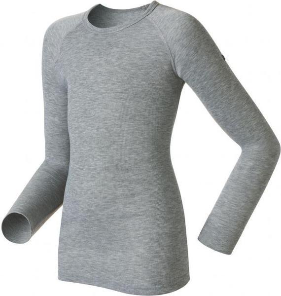 Odlo Shirt l/s crew neck Warm Kids grey melange (10459)