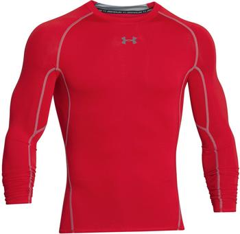 Under Armour Men's HeatGear Compression Long Sleeve red