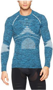 X-Bionic Accumulator Evo Man Melange Shirt Round Neck blue melange/white