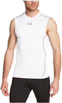 Under Armour Herren Kompressions-Shirt UA HeatGear Armour ärmellos weiß
