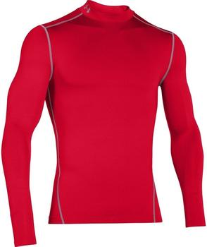 Under Armour Herren Kompressions-Mock-Shirt UA ColdGear Armour langärmlig rot
