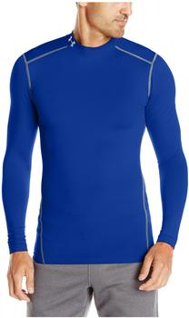 Under Armour Herren Kompressions-Mock-Shirt UA ColdGear Armour langärmlig blau