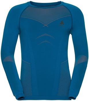 Odlo Evolution Warm Baselayer Shirt Men mykonos blue/orangeade
