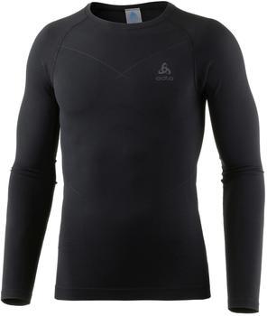 Odlo Evolution Warm Baselayer Shirt Men black/odlo graphite grey