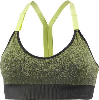 Adidas All Me Seamless Heather green/carbon/semi frozen yellow