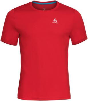 Odlo BL Top Nikko F-Dry Short Sleeve Crew Neck Shirt fiery red