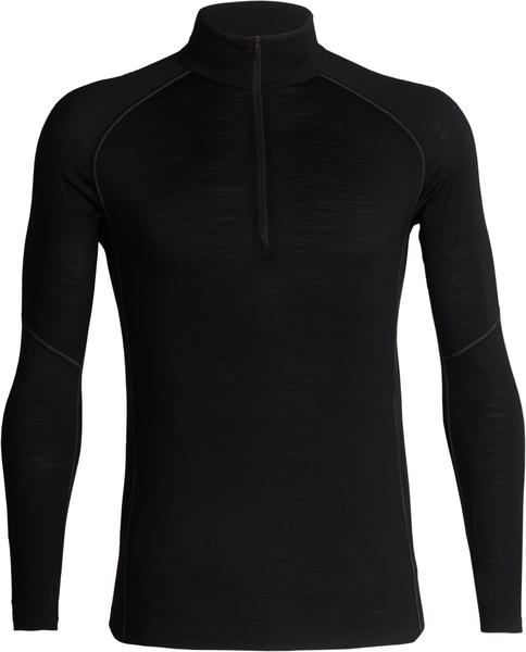 Icebreaker BodyfitZONE 150 Zone Long Sleeve Half Zip Men black/mineral