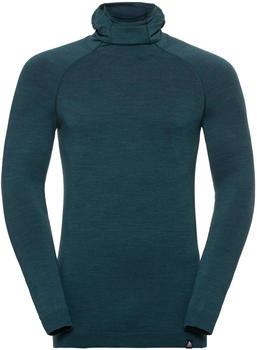 Odlo SUW Top Natural + Kinship Warm Men blue coral melange