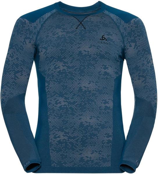 Odlo Herren Blackcomb Evolution Warm Longsleeve opal blau