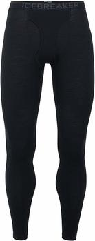 Icebreaker Mens 200 Oasis Leggings w Fly Black/Monsoon