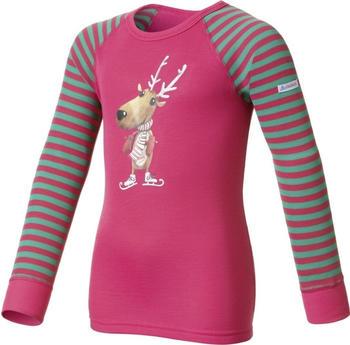 Odlo Shirt l/s Crew Neck Warm Trend Kids (150459) magenta / mystic green