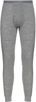 Odlo Men's Natural 100 % Merino Warm Baselayer Pants grey melange/grey melange