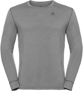 Odlo Men's Natural 100 % Merino Warm Long-Sleeve Baselayer Top grey melange/grey melange