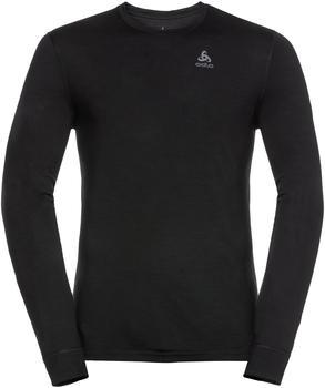 Odlo Men's Natural 100 % Merino Warm Long-Sleeve Baselayer Top black/black