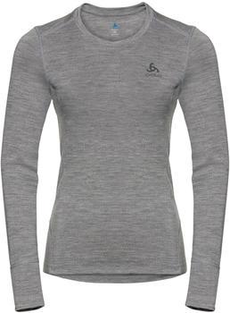 Odlo Women's Natural 100 % Merino Warm Long-Sleeve Baselayer Top grey melange