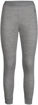 Odlo Women's Natural 100% Merino Warm Baselayer Pants grey melange/grey melange