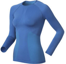 Odlo Shirt l/s Crew Neck Evolution Warm Women (180901) dazzling bluetile blue