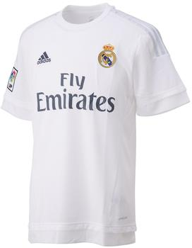 adidas Real Madrid Herren Heim Trikot 2015/2016 white/clear grey S