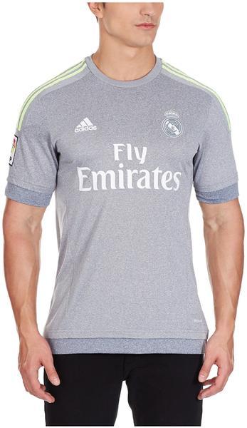 Adidas Real Madrid Herren Auswärts Trikot 2015/2016 grey/solar yellow XXL