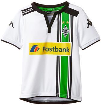 Kappa Borussia Mönchengladbach Kinder Heim Trikot 2015/2016 weiß/schwarz/grün Gr. 152