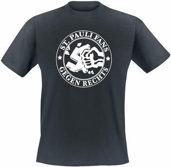 keine Angabe FC St. Pauli Herren T-Shirt Gegen Rechts schwarz S
