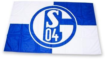 Trade Con FC Schalke 04 Fahne blau/weiß 200 x 300 cm