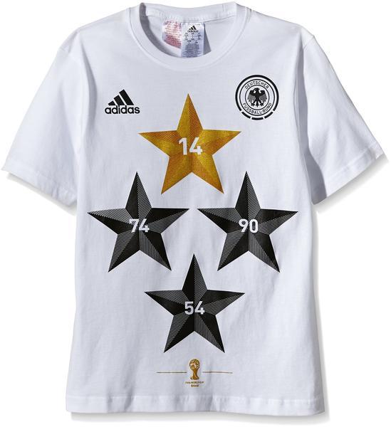 adidas DFB Kinder Winner T-Shirt Weltmeisterschaft 2014 weiß Gr. 176
