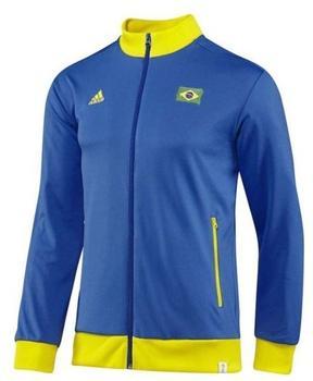 adidas Brasilien Herren Track Top 2014 bahia blue/vivid yellow M