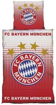 FC Bayern Bettwäsche Logo Biber Größe 135x200+80x80 cm