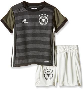 Adidas DFB Auswärts Babykit EM 2016 dark grey heather/off white/base green Gr. 74