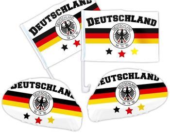 keine Angabe 4 tlg. Alsino Deutschland DE-03 WM Fanartikel Auto Fanset Fanpaket AutoflaggenSpiegelüberzug Autofahne