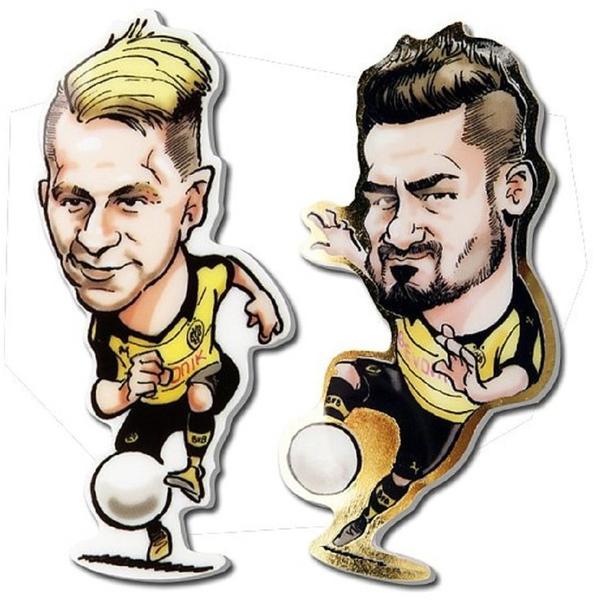BVB Borussia Dortmund Haftsticker 10er Set