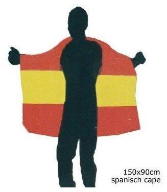 Funny Spanien-Umhang Einheitsgröße