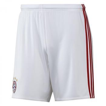 adidas FC Bayern München Herren Heim Short 2016/2017 white/true red L