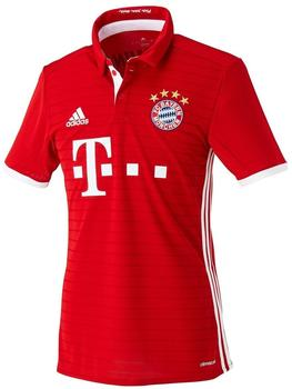 adidas FC Bayern München Herren Heim Trikot 2016/2017 fcb true red/white XL