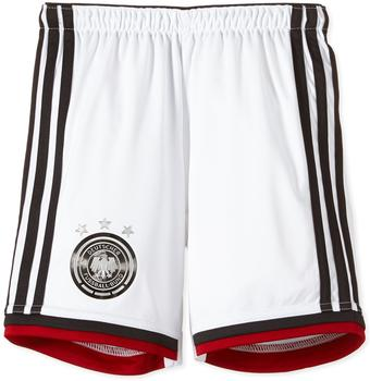 adidas DFB Kinder Heim Short Weltmeisterschaft 2014 white/black/victory red/matte silver Gr. 152