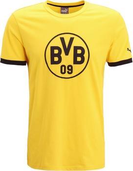 Puma BVB Wappen T-Shirt Herren 2016/2017 cyber yellow/puma black