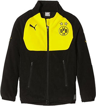 Puma Borussia Dortmund Herren Full Zip Fleece Jacke 2016/2017 black/cyber yellow S