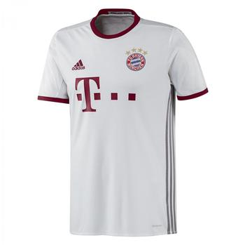 adidas FC Bayern München Herren UCL Trikot 2016/2017 white/light onix/collegiate burgundy M