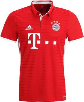 Adidas FC Bayern München Home Trikot 2016/17 rot/weiß mit Badges Gr. XS