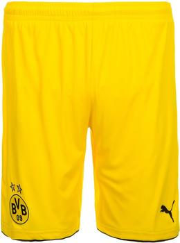 Puma Borussia Dortmund Kinder Auswärts Short 2016/2017 cyber yellow/black Gr. 176