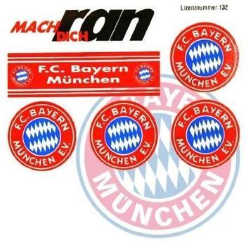 FC Bayern Aufkleber 6er Set rot/blau