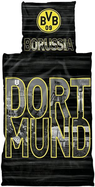 BVB Borussia Dortmund BVB-Bettwäsche Stadtbuchstaben 135 x 200 cm
