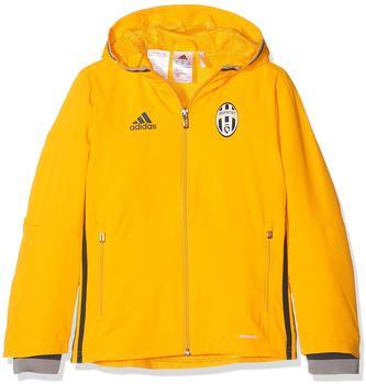 Adidas Juventus Turin Präsentationsjacke Kinder gelb