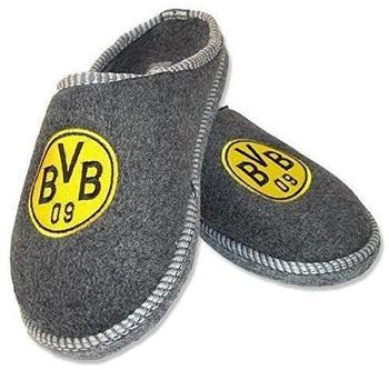 BVB Borussia Dortmund Filzpantoffeln grau Herren Gr. 38-39