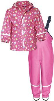 Playshoes Regen-Set Sterne Gr. 92 (Pink)