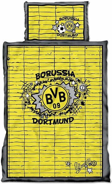 BVB Borussia Dortmund Bettwäsche Graffiti gelb
