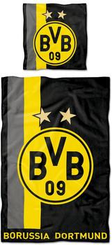 BVB Bettwäsche mit Streifenmuster (135 x 200 cm)